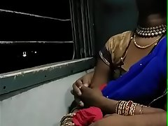 Newly Married Indian Couple On Honeymoon Sex In Train